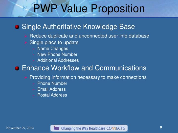 PWP Value Proposition