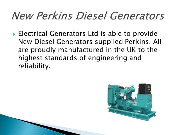 New Perkins Diesel Generators
