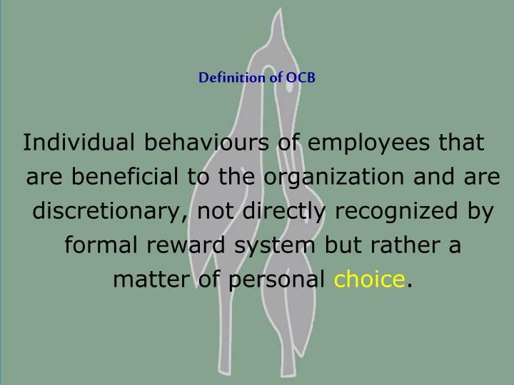 Definition of OCB