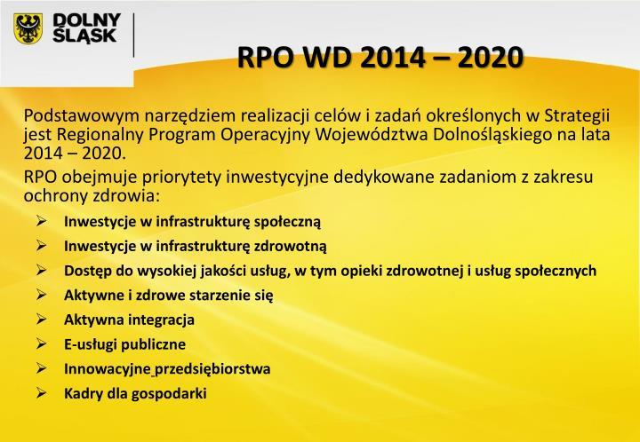 RPO WD 2014 – 2020