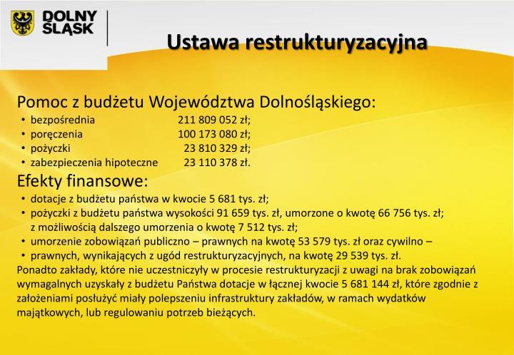 Ustawa restrukturyzacyjna