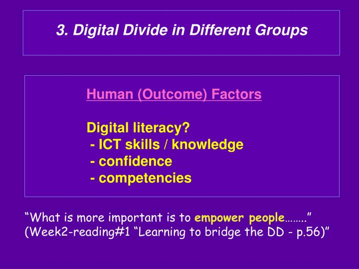 3. Digital Divide