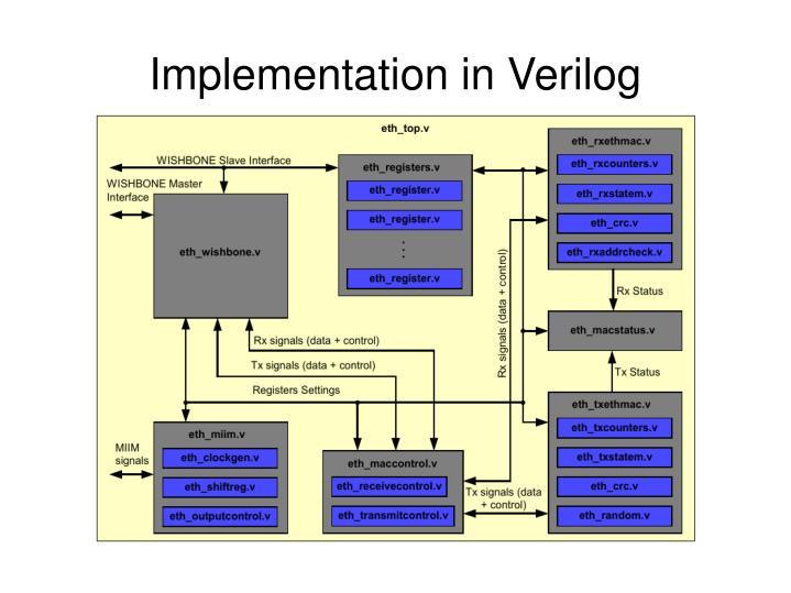 Implementation in Verilog