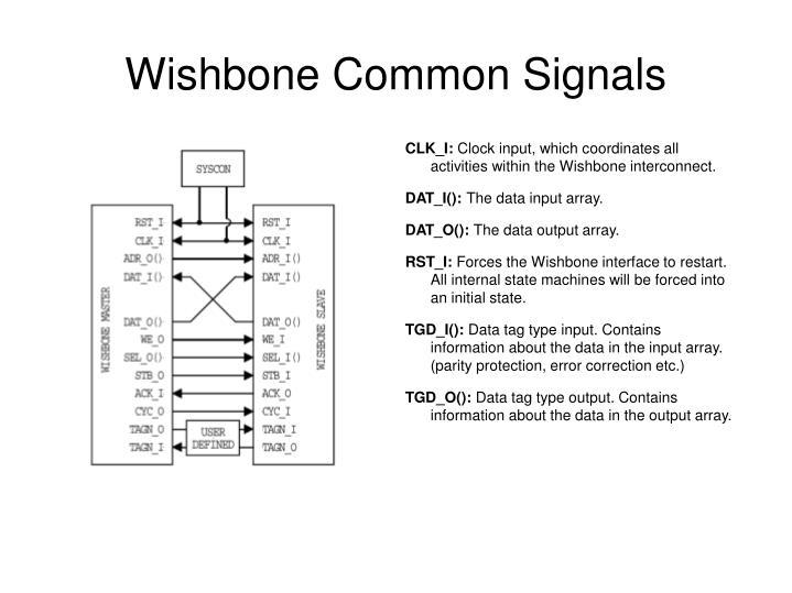Wishbone Common Signals