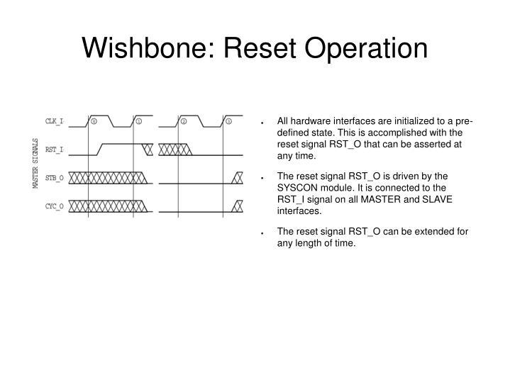 Wishbone: Reset Operation