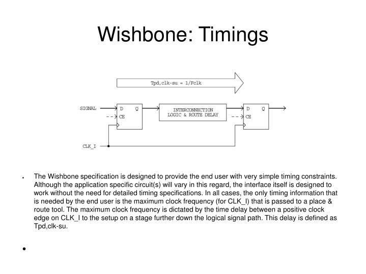 Wishbone: Timings