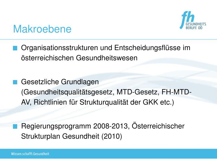 Organisationsstrukturen und Entscheidungsflüsse im österreichischen Gesundheitswesen