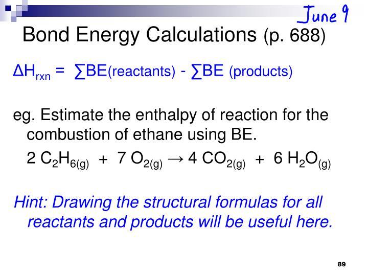 Bond Energy Calculations