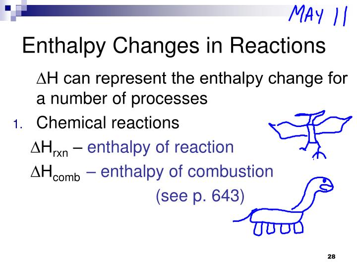 Enthalpy Changes	 in Reactions