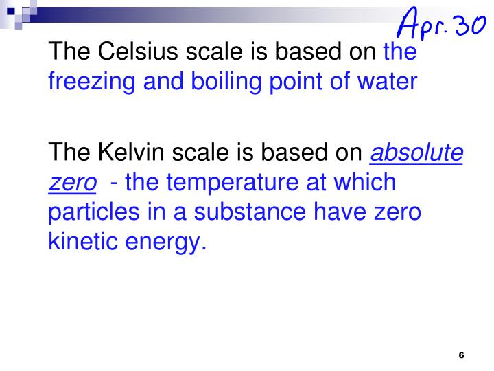 The Celsius scale is based on