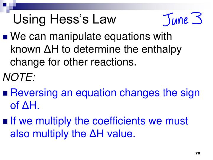 Using Hess's Law