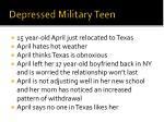 depressed military teen
