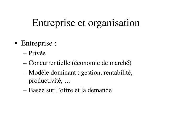 Entreprise et organisation