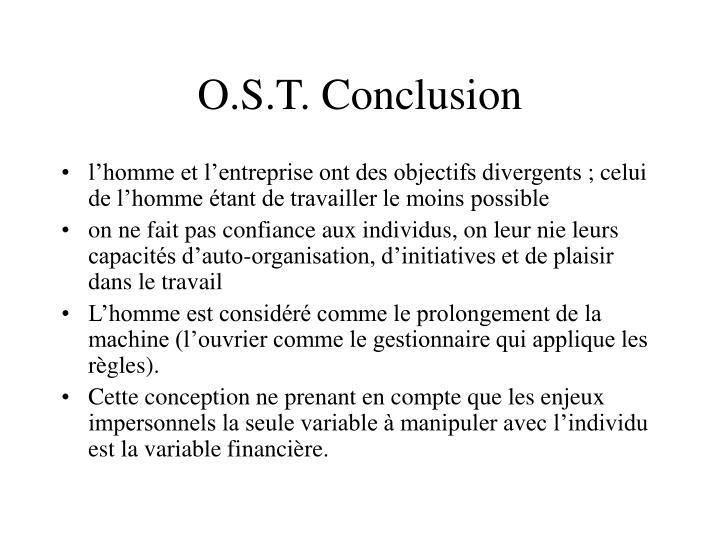 O.S.T. Conclusion