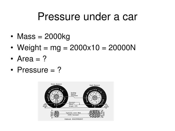 Pressure under a car