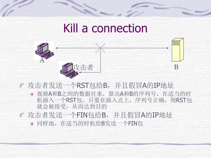 Kill a connection
