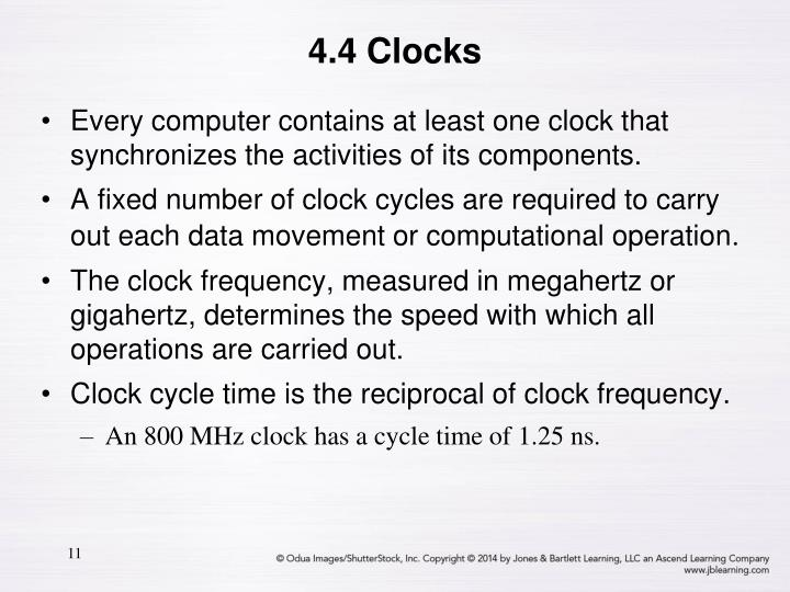 4.4 Clocks