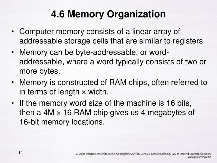 4.6 Memory Organization