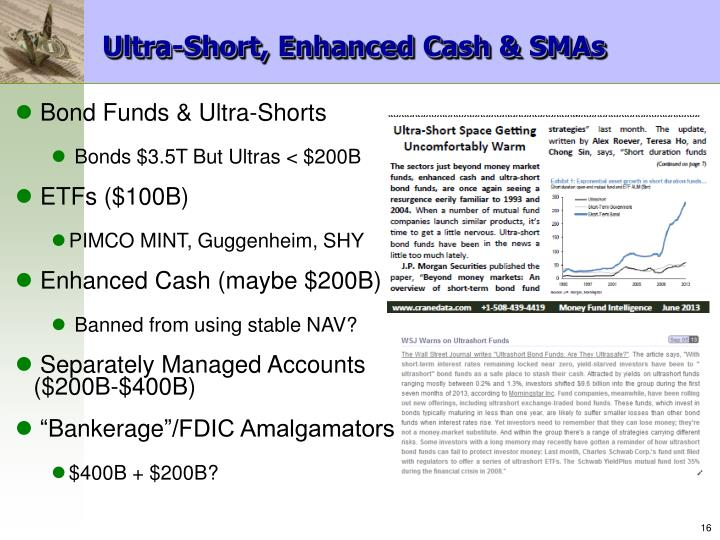 Ultra-Short, Enhanced Cash & SMAs