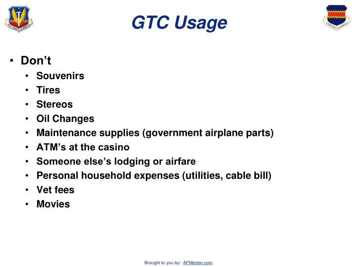 GTC Usage