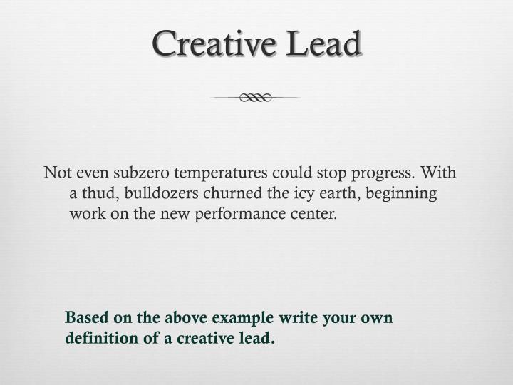 Creative Lead