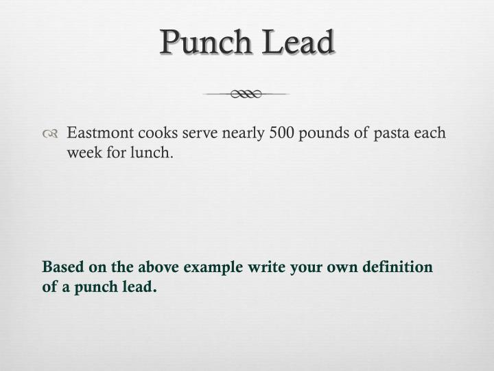 Punch Lead