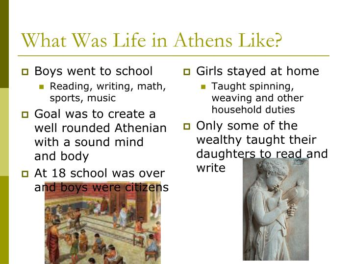 What Was Life in Athens Like?