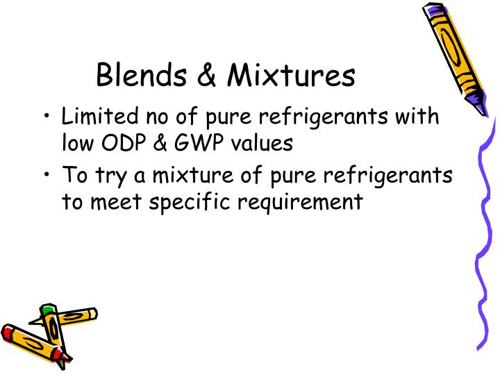Blends & Mixtures