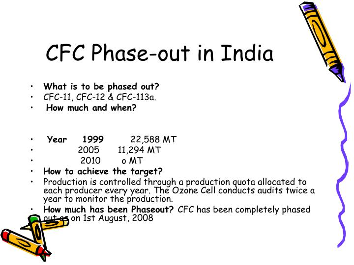 CFC Phase-out in India