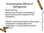 environmental effects of refrigerants1