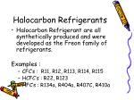 halocarbon refrigerants1