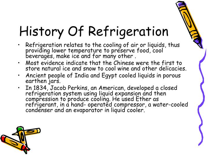 History of refrigeration