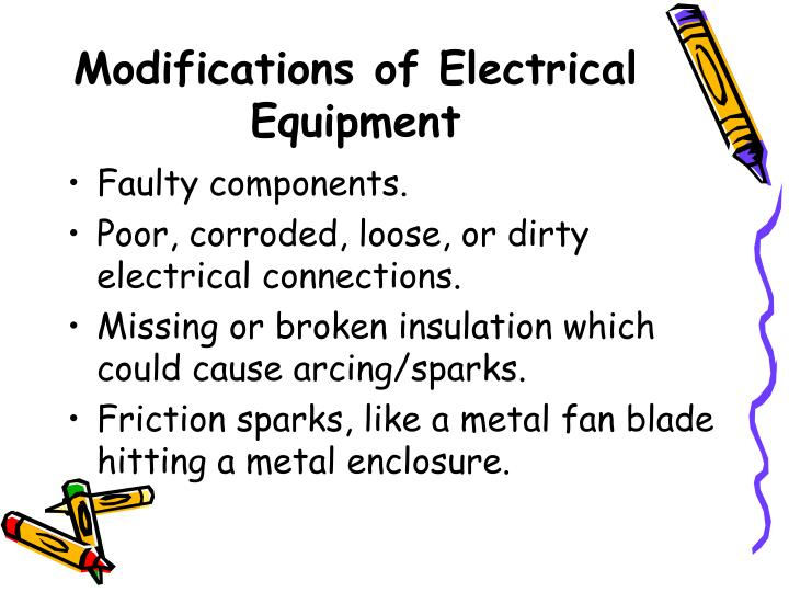 Modifications of Electrical Equipment