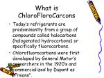 what is chloroflorocarcons