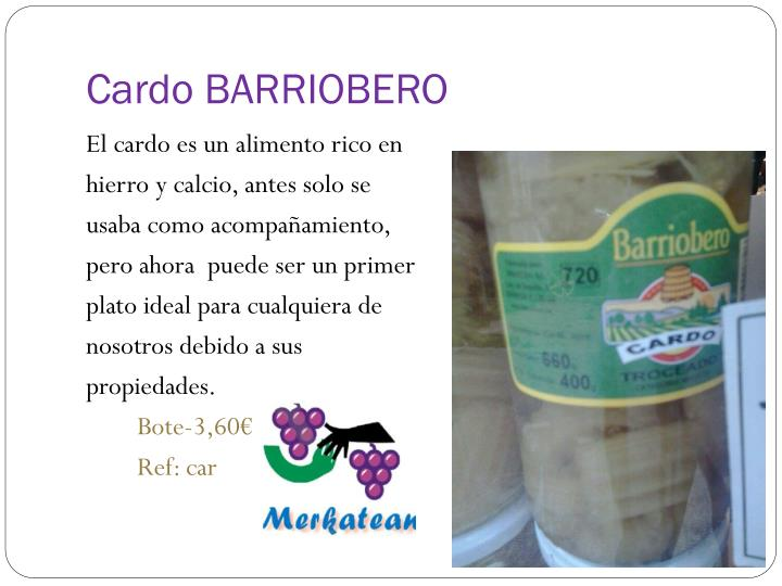 Cardo BARRIOBERO