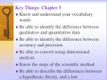 key things chapter 5