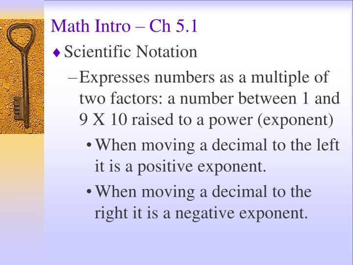 Math Intro – Ch 5.1