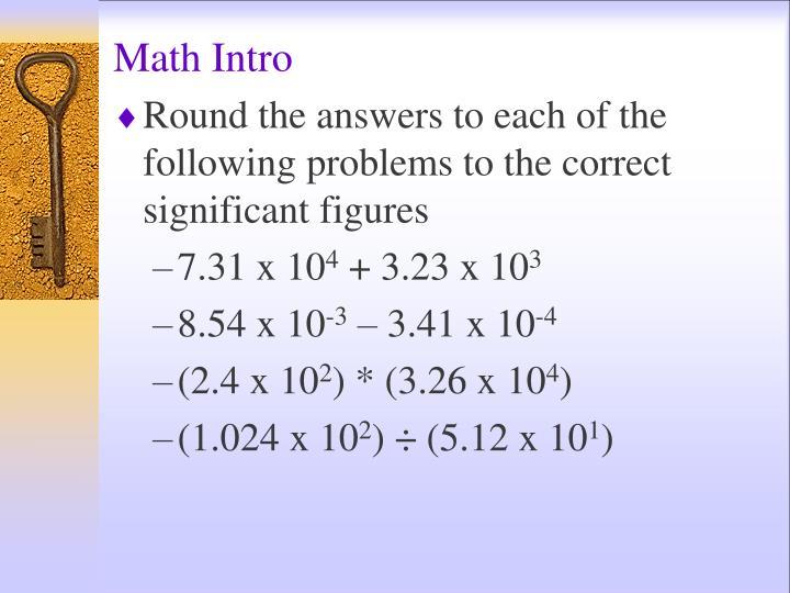 Math Intro