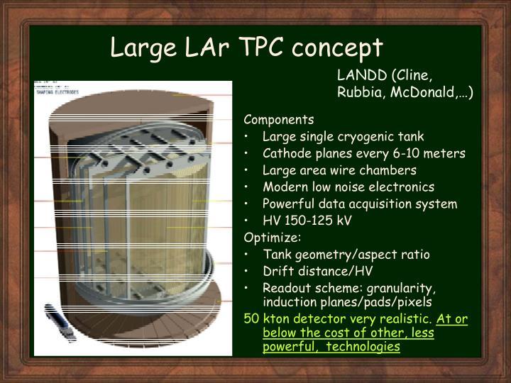 Large LAr TPC concept