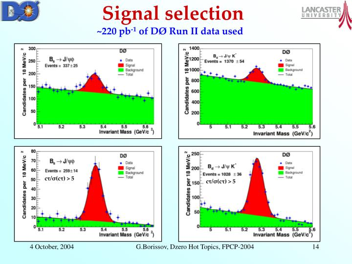 Signal selection
