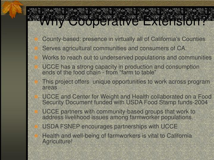 Why Cooperative Extension?