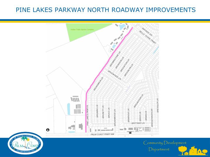 Pine lakes parkway north roadway improvements