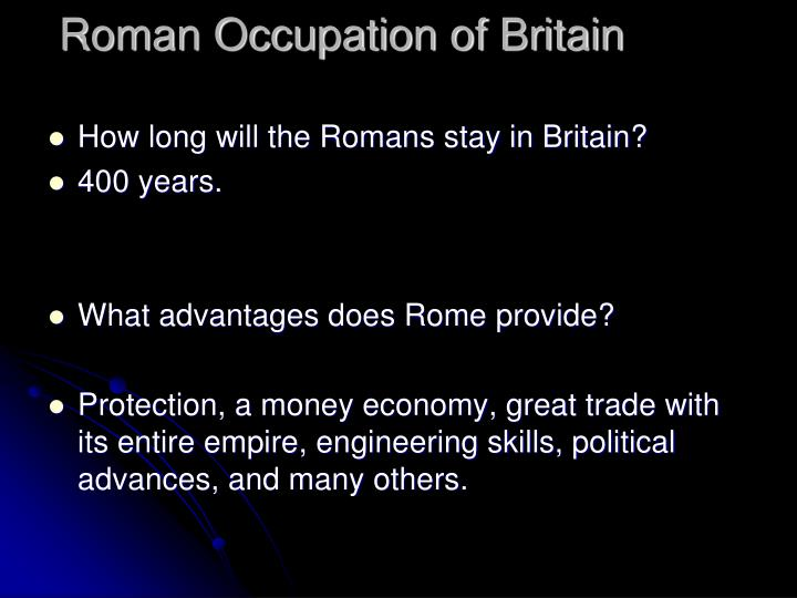 Roman Occupation of Britain