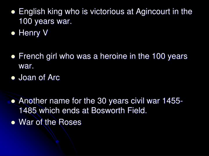 English king who is victorious at Agincourt in the 100 years war.