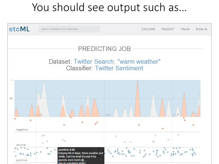 You should see output such as…