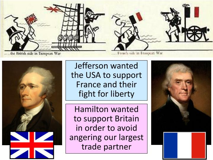 Jefferson wanted the USA to support France and their fight for liberty