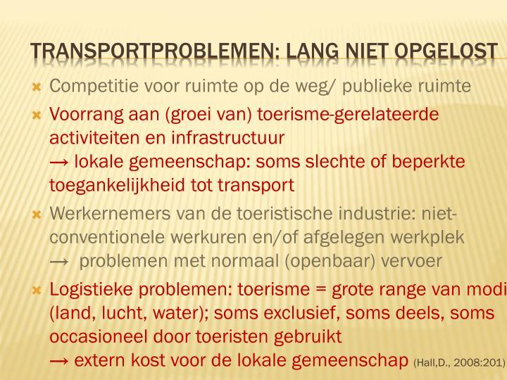 Competitie voor ruimte op de weg/ publieke ruimte
