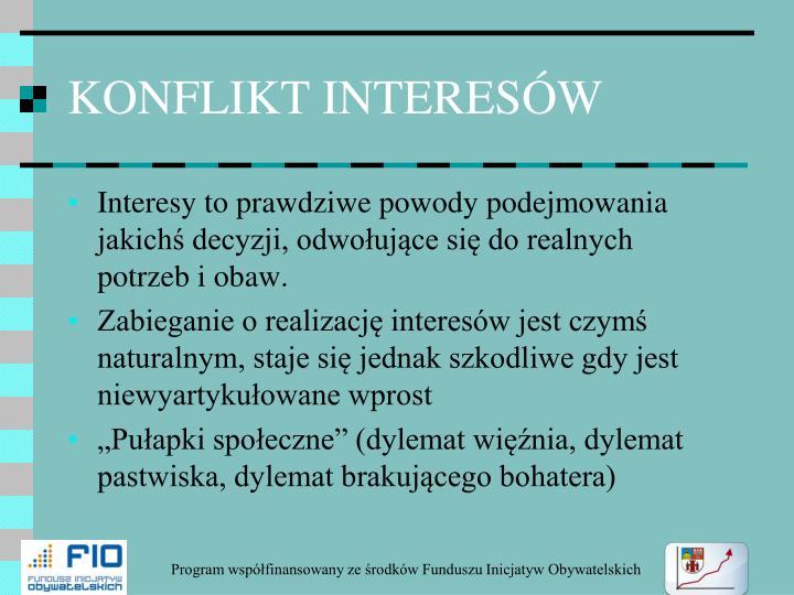 KONFLIKT INTERESÓW