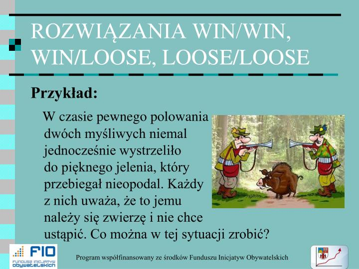 ROZWIĄZANIA WIN/WIN, WIN/LOOSE, LOOSE/LOOSE