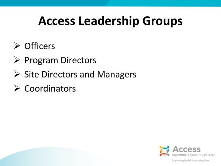Access Leadership Groups